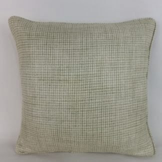 Green Dogtooth Woven Check Cushions