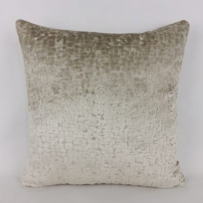 Oyster Grey Cut Velvet Textured Lumbar Cushions