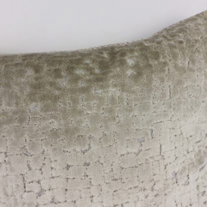 Oyster Grey Cut Velvet Textured Cushions
