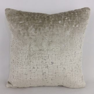 Oyster Grey Cut Velvet Cushions