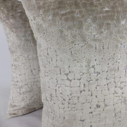 Oyster Grey Cut Velvet Cushions