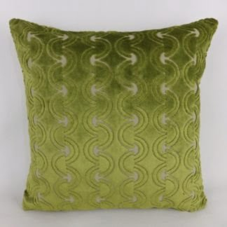 Green Cut Velvet Cushions