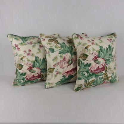 Vintage Floral Linen Cushions