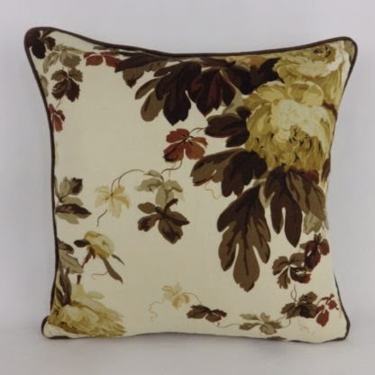 Brown Large Floral Cushions
