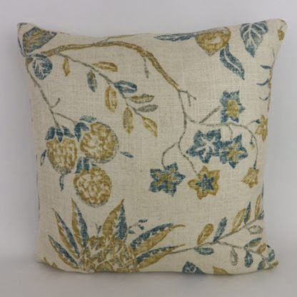 Sanderson Solaine Teal Gold Indienne Cushions