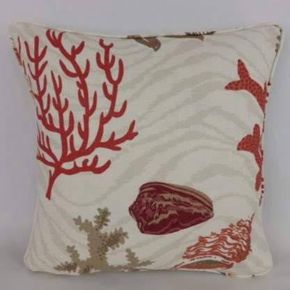 Cowtan & Tout Barbados Shell Coral Cushion