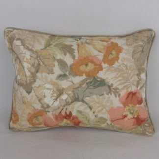 Sanderson Exbury Coral Copper Peach Country Cottage Floral Cushion