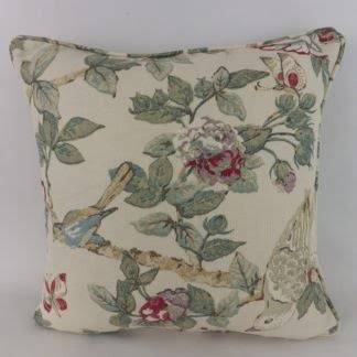 Sanderson Caverley Bird Floral Fabric Cushion