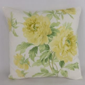 Sanderson Adele Yellow Rose Cushion