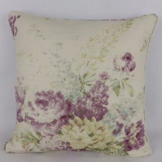 Purple Faded Vintage Rose Floral Cushions