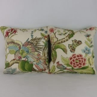 Pair of Bird of Paradise Designer Cushions