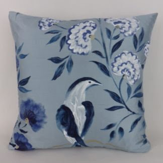 Designers Guild Jacaranda Silk Bird Cushion