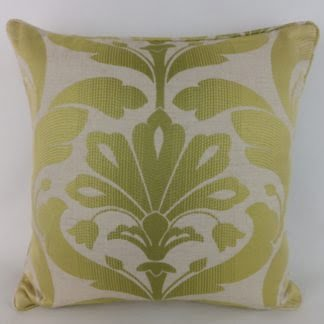 Green Jacquard Leaf Cushions
