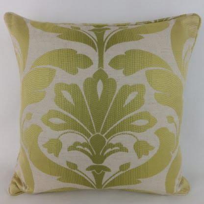 Green Jacquard Leaf Cushions