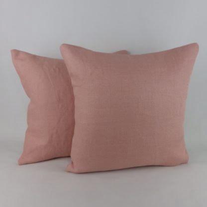 Plaster Pink Linen Cushion