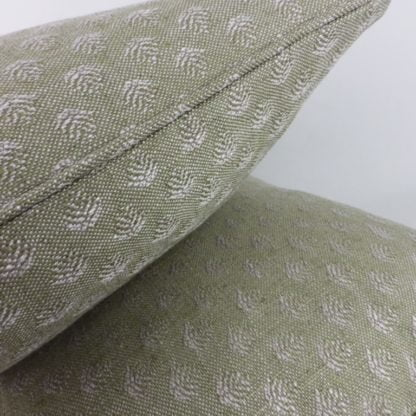 Soft Green Tree Woven Cushions