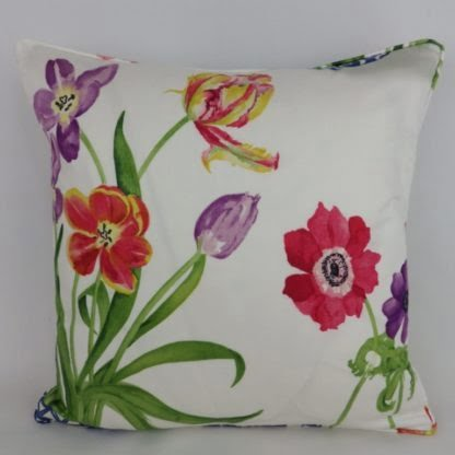 Bright Floral Spring Tulip Cushions