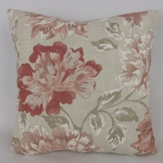 Hodsoll McKensie Welford Faded Red Pink Rose Cushions