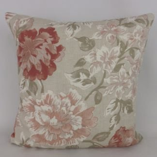 Hodsoll McKensie Welford Faded Pink Red Rose Cushions