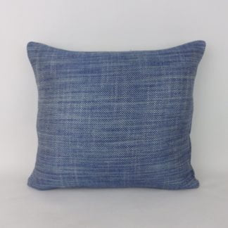 Blue Herringbone Weave Cushions