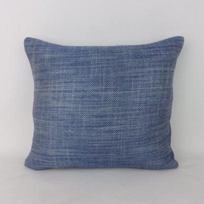 Blue Herringbone Weave Cushions