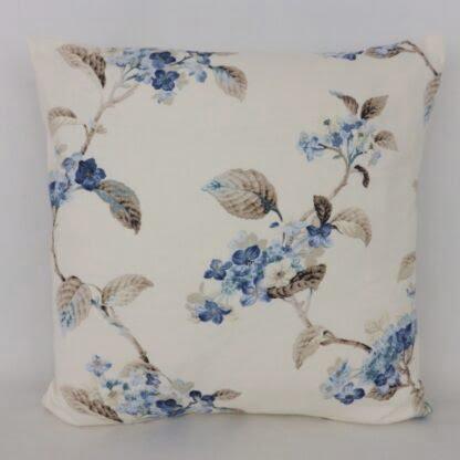 Vintage Hydrangea Floral Cushion