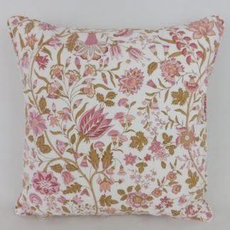 Vintage Sanderson Pink Floral Kandahar Cushion