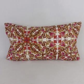 Vintage Sanderson Floral Colette Bolster Cushion