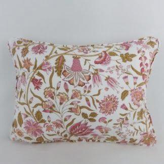 Vintage Sanderson Kandahar Pink Floral Cushion