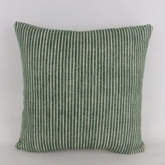 Dark Green Ticking Stripe Cushions