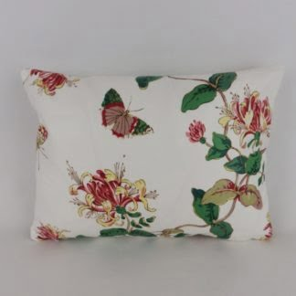 Colefax & Fowler Honeysuckle Floral Cushion