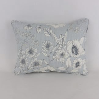 Mineral Blue Wild Flower Floral Cushion