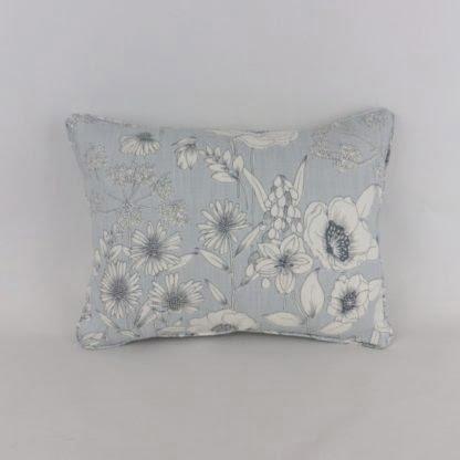 Mineral Blue Wild Flower Floral Cushion