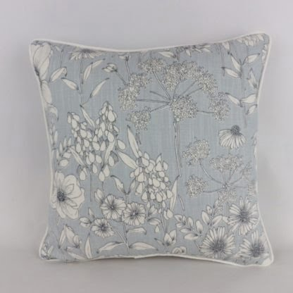 Mineral Blue Wildflower Floral Cushions