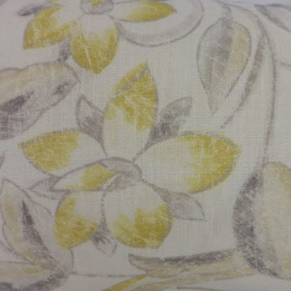 Yellow Zoffany Canterbury Linen Fabric Cushion
