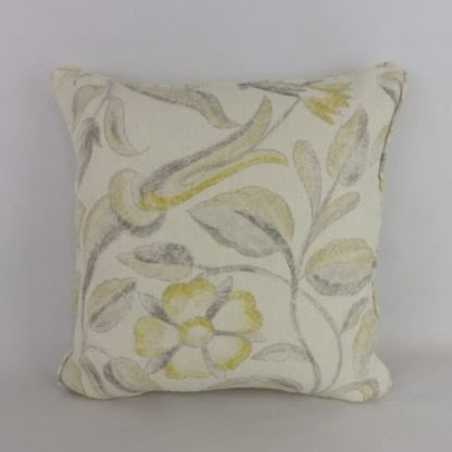 Yellow Zoffany Canterbury Floral Cushion