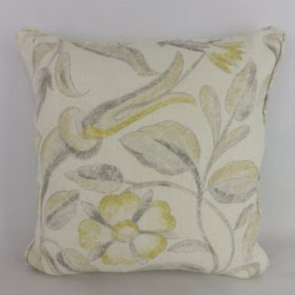 Yellow Zoffany Canterbury Floral Cushion