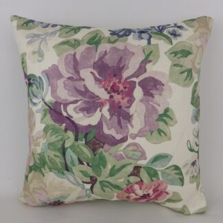 Sanderson Midsummer Rose Vintage Floral Cushion