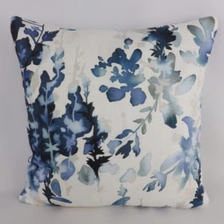 Blue Watercolour Floral Cushions