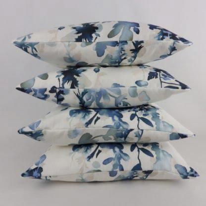 Blue Watercolour Floral Cushions