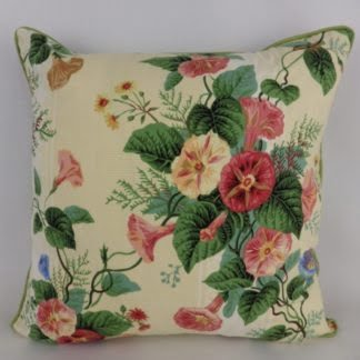 Orange Plaster Pink Vintage Floral Cushion