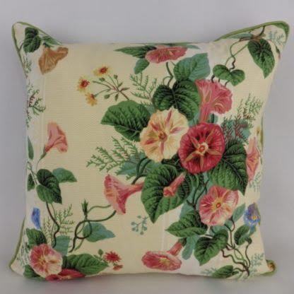 Orange Plaster Pink Vintage Floral Cushion
