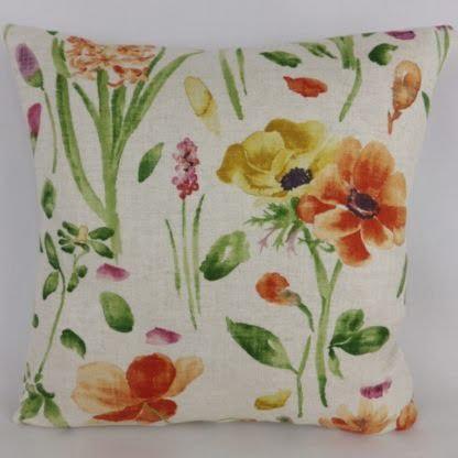 Sanderson Spring Flowers Fabric Cushions