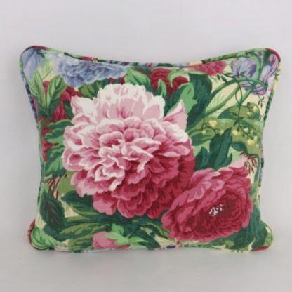 Vintage Sanderson Linen Floral Cushion