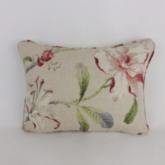 Natural Floral Linen Cushions