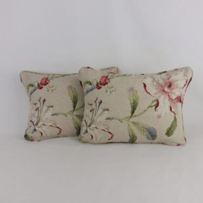 Natural Floral Linen Cushions