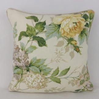Vintage Rose Floral Sanderson Rosamund Cushion