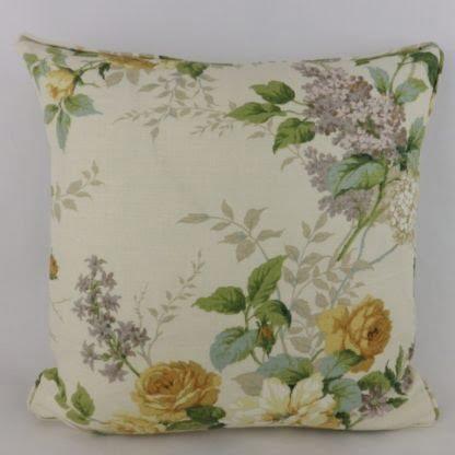 Large Vintage Rose Floral Sanderson Rosamund Cushion