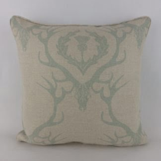Stag Deer Damask Barneby Gates Fabric Cushion