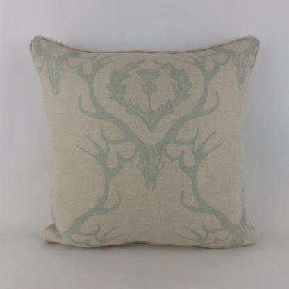 Stag Deer Damask Barneby Gates Fabric Cushion